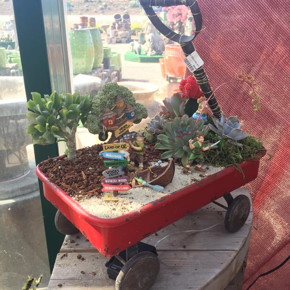 Red wagon garden