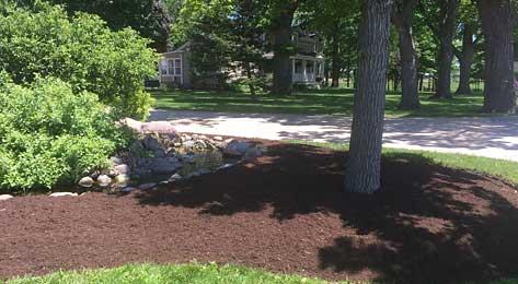Bark landscaping